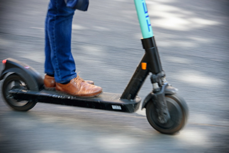 E-scooter rider